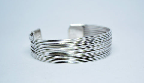 German Silver Multi Wire Adjustable Cuff - edocollection