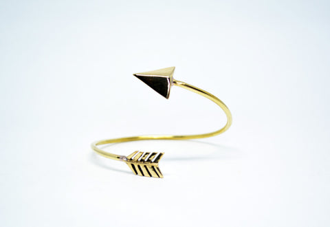 Unisex Brass Arrow Cuff Bracelet - edocollection