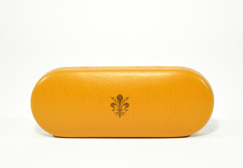 Slim Leather Glasses Case-Yellow Mustard - edocollection