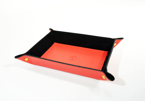 Leather Valet-Tray-Red - edocollection