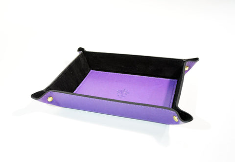Leather Valet Tray - Purple - edocollection