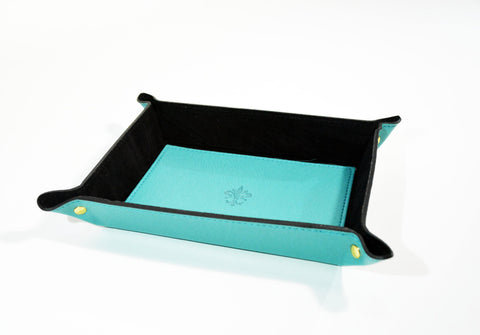 Women's Leather Catch All-Teal - edocollection