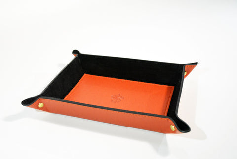 Men's Leather Catch All-Orange - edocollection