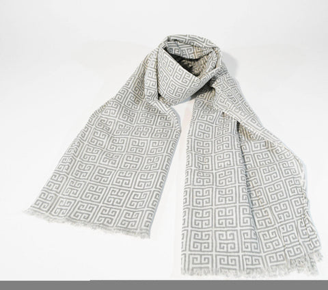 Mens Viscose Scarf-Light grey - edocollection