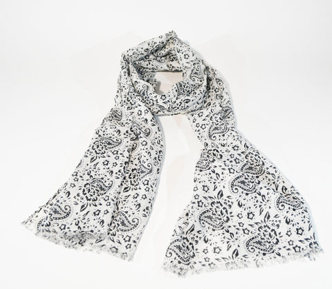 Viscose Scarf Paisley Print - edocollection