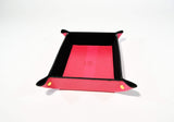 Leather Tray Desk Organizer-Pink - edocollection