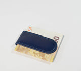 Leather Money Clip-Blu - edocollection