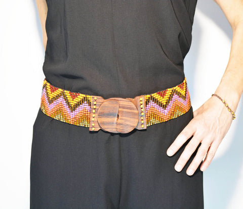 Elastic Adjustable Belt Orange - edocollection