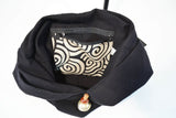 Hobo Shoulder Bag-Black - edocollection