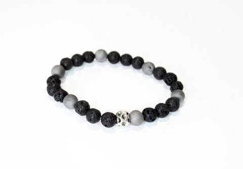 Mens Black Lava Beads Bracelet - edocollection