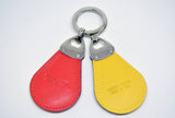 Unisex Leather Key Ring-Cherry Red - edocollection