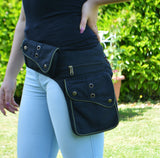 Unisex Cotton Canvas Utility Belt-Black - edocollection