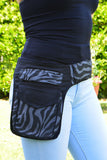 Women's Canvas Pocket Belt-Zebra - edocollection