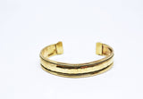 Unisex Hammered Brass Cuff Bracelet - edocollection