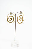 Brass Spiral Earrings - edocollection