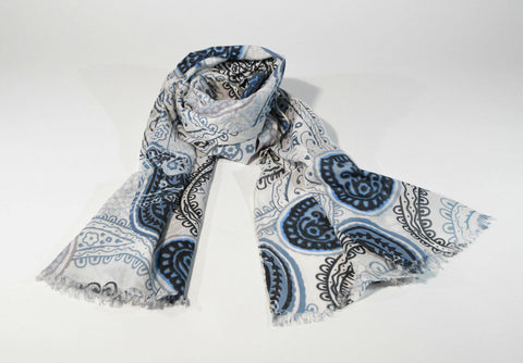 Paisley Mens Viscose Scarf - edocollection