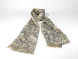 Womens Cotton Scarf Floral Motif - edocollection