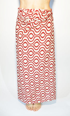 Cotton Sarong Red Wave - edocollection