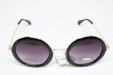 Large Oversized Round Sunglasses Black - edocollection