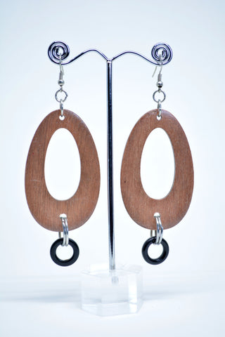 Drop Wood Oval Hoops Light Brown - edocollection