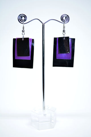 Three Layers Shell Drop Earrings Rectangular - edocollection