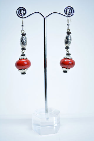 Red Coral Drop Earrings - edocollection