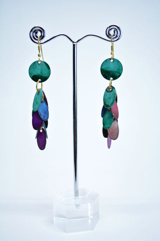Drop Brass Multicolor Earrings - edocollection