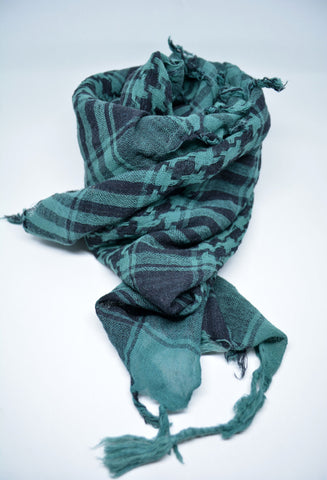 Mens Arab Scarf Keffiyeh Scarf Green - edocollection