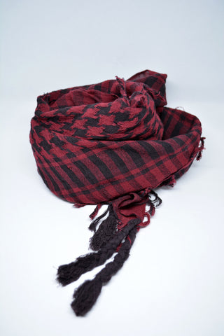 Mens Keffieyh Scarf Burgundy - edocollection