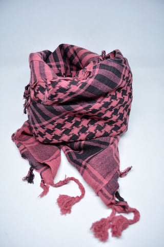 Womens Keffiyeh Scarf Pink - edocollection