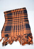 Womens Shemagh Cotton Scarf Orange - edocollection