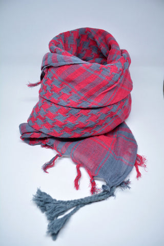 Keffiyeh Cotton Scarf Fuchsia - edocollection