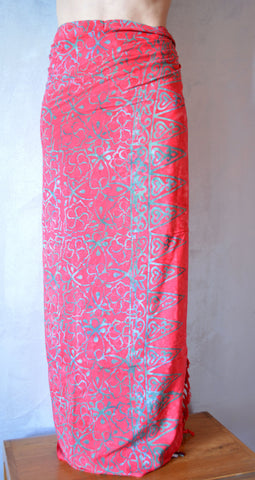 Red Sarong Abstract Motif - edocollection