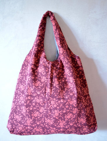 Reversible Hobo Bag Burgundy - edocollection