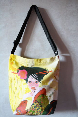 Shopper Canvas Bag-Geisha Print - edocollection