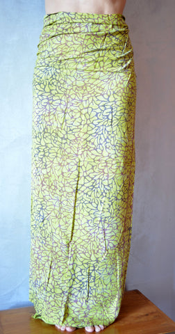 Viscose Pareo-Lime Green - edocollection