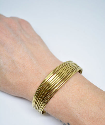 Multiwire Brass Cuff Bracelet - edocollection
