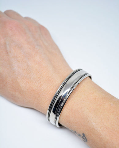 Mens German Silver Mens Cuff Bracelet - edocollection