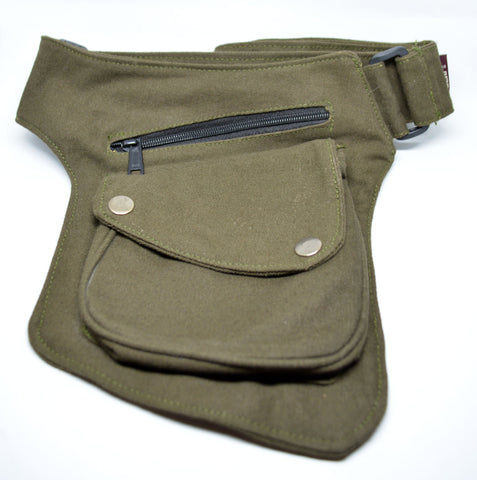 Unisex Canvas Pocket Belt-Army Green - edocollection