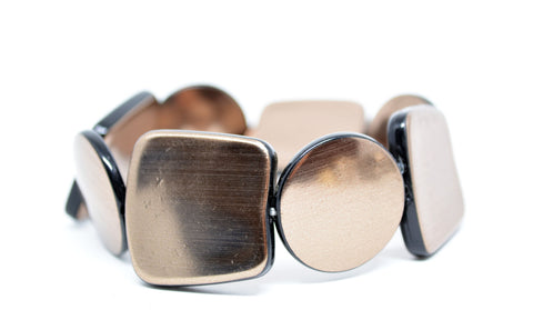 Expandable Resin Bracelet Bronze - edocollection