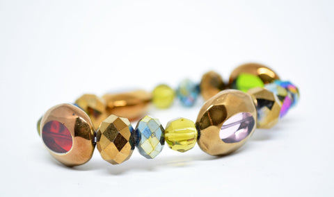 Women's Faceted Glass Beads Bracelet - edocollection
