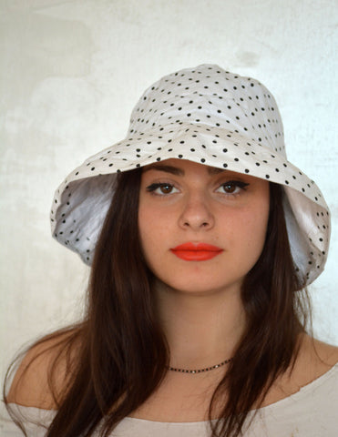 White Hat For Women- Dotted - edocollection