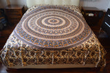 Boho Bed Sheet Mandala Creme - edocollection
