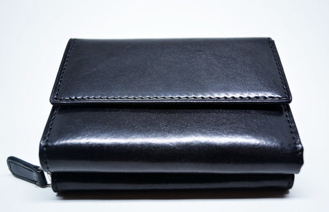 Small Leather Wallet-Black - edocollection