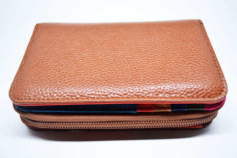 Leather Purse-Tan - edocollection