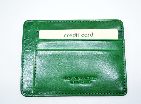 Slim Card Holder-Green - edocollection