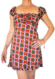 Short Dress - Rust Geometric Print - edocollection