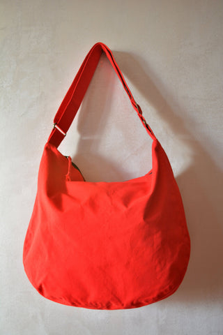 Large Hobo Canvas Bag-Red - edocollection