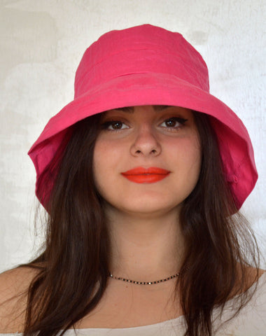 Pink Women Summer Hat - edocollection