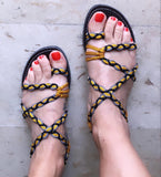 Paracord Braided Sandal - Yellow - edocollection